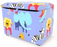 These fabric toy boxes are lovely and colourful and will brighten your child's room with their fun prints.