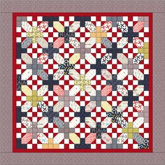 "Quilt Sashing Ideas | Moda Bake Shop: ""Nough Said"" Layer Cake Quilt"