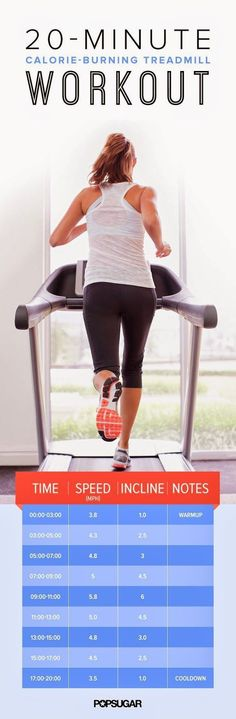 A 20-Minute, Calorie-Burning Treadmill Workout | Fit Villas