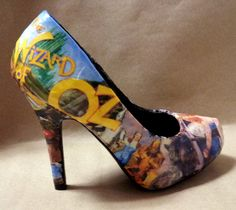 Wizard of Oz Heels Made to Order by custombykylee on Etsy