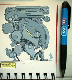Bots Errwhere 02, Sam Burton on ArtStation at https://www.artstation.com/artwork/bots-errwhere-02