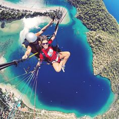 Happy face airborne - #Oludeniz paragliding from #Babadag mountain (photo by…