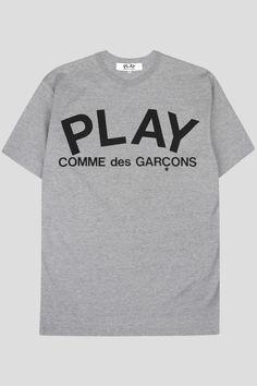 COMME DES GARCONS PLAY SS TSHIRT GREY BLACK