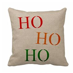 Christma Pillow CoversLinen Square HO HO HO Throw Pillow Cover Zippered 18 x 18 for Sofa Decorative for Christmas Gifts >>> Visit the image link more details. Throw Pillow Covers, Throw Pillows, Christmas Pillow Covers, Sofa, Couch, Home Kitchens, Image Link, Christmas Gifts, Stuff To Buy