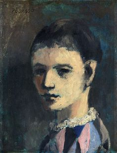 Pablo Picasso, 1905, Arlequin (Harlequin's head), oil on panel, private collection