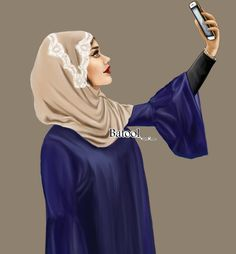 Girls come its a selfie♥♥ Art Drawings Sketches Simple, Girly Drawings, Crown Illustration, People Illustration, Mother Daughter Art, Girly M, Hijab Cartoon, Candy Wedding Favors, Cute Girl Drawing
