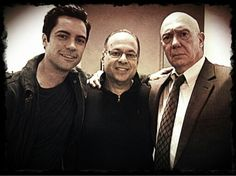 Danny, Dann Florek and a real SVU detective (from Danny Pino's Twitter)