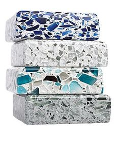 If you're replacing countertops, consider recycled glass over quarried stone.    From $110 per sq. foot (installed); vetrazzo.com