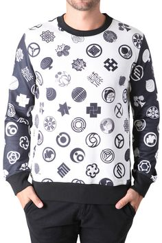 trui voor in de herfst en winter met allemaal symbolen en vormen erop