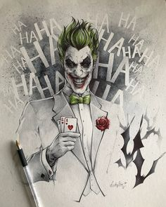 Smile & laugh every day! Its good for the mood! Merci Audrey & Jérôme pour votre confiance  #hahahahahahahaha #joker #dccomics #batman #darkknight #birodrawing #watercolor #birthdaygift #commission #lovedrawingthejoker #arkham #arkhamasylum