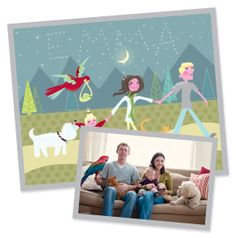 Check out the Happy Family Illustrations. What a great Christmas gift idea. Can not wait to get mine ordered.