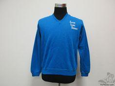 Vtg 70s 80s Eastern Illinois Panthers V Neck Sweatshirt sz M Medium University #Unknown #EasternIllinoisPanthers