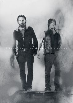 The Walking Dead. Rick & Daryl.  Brothers from another mother.
