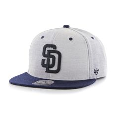 San Diego Padres Heather Wheel Captain Gray 47 Brand Adjustable Hat