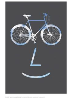 On October the NYC Flos store will host a new exhibition called PUBLIC WORKS, a poster exhibition created by PUBLIC, the designy bicycle company with a mission to improve the quality and character of our cities and public spaces. Corporate Design, Business Design, Frases Biker, Bike Poster, Bicycle Art, Bike Design, Grafik Design, Design Show, Illustrations Posters