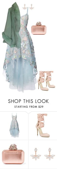 """""""Prom"""" by sharonvandoesburg ❤ liked on Polyvore featuring Notte by Marchesa, Miss Selfridge, Jimmy Choo and Accessorize"""