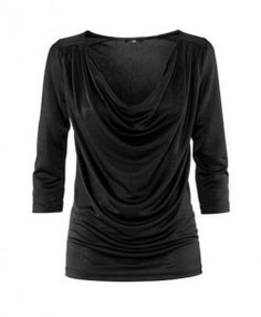 Draped T-Shirt with 3/4 Sleeves
