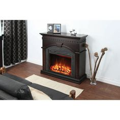 Muskoka Finley cm in.) Electric Fireplace Mantel with Corner Option Fireplace Remodel, Fireplace Mantels, Foyers, Peaceful Places, Electric Fireplace, Formal Living Rooms, Master Bedroom, Home And Garden, Corner