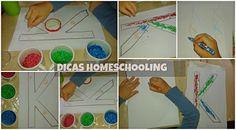 Ensinar a Escrever Brincadeira  Alfabetização com Passo a Passo Homeschooling