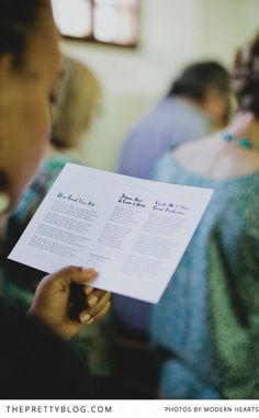 simple ceremony program