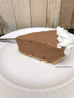 This Hershey Bar Pie is a favorite at our house. It's like a s'mores but in pie form. There really couldn't be an easier pie to make.