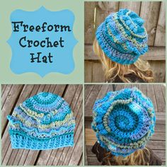 Knot Your Nana's Crochet: Freeform Crochet Hat