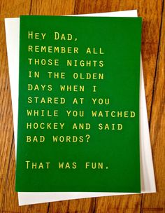 Funny card for dad funny father's day card by TenseandUrgent