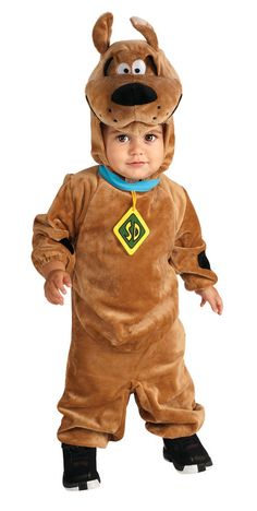 Scooby Doo Infant Costume This costume includes a soft romper and character headpiece. Does not include shoes. This is an officially licensed Scooby Doo costume. Weight (lbs) 0.82 Length (inches) 13.5