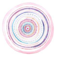 Mandala pattern art print. Geometric abstract by lorrainetolmie, £10.00