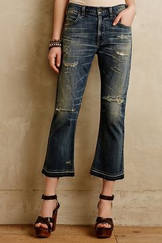 Citizens of Humanity Drew Crop Flare Jeans #anthropologie