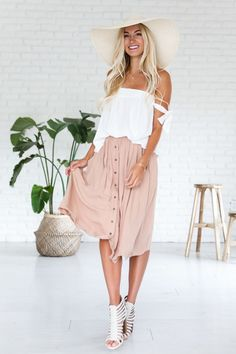 Circles In The Sand Midi Skirt
