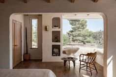 Adobe House, Desert Homes, Framing Photography, Built In Bench, Plaster Walls, Wide Plank, Guest Bedrooms, Home Renovation, Decoration