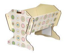 Sweet Dreams!     design cradle made entirely of recycled cardboard, non-allergenic and treated with natural fire retardant. It is resistant to fire and water.       visit www.reregreen.com