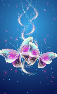 By Artist Unknown. Butterfly Background, Butterfly Wallpaper, Butterfly Flowers, Galaxy Wallpaper, Beautiful Butterflies, Wallpaper Backgrounds, Beautiful Flowers, Phone Screen Wallpaper, Cellphone Wallpaper