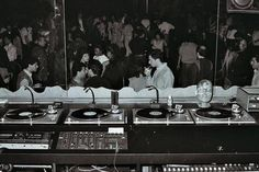 """""""vinylespassion:  Four turntables in the DJ booth at 4D Nightclub in New York.  """""""