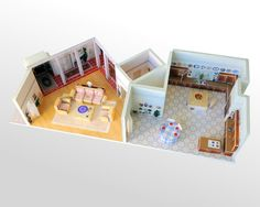 Holy wowzercripes, that is amazing. ~ Golden Girls House Scale Model 6151 Richmond by EverydayMiniatures, $175.00