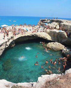 Grotta della Poesia, Puglia, Italy.