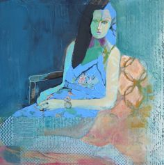 Girl with Black Hair...judy thorley