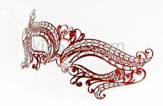MAMI Laser Cut Venetian Mask Masquerade Costume Ball Crystal Red Butterfly Prom Women | eBay