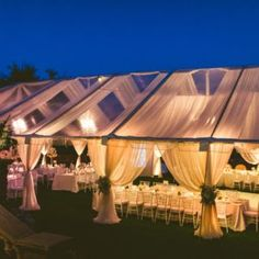Clear Tents - Orlando Wedding and Party Rentals wedding tent Clear Tents - Orlando Wedding and Party Rentals Wedding Themes, Wedding Colors, Wedding Decor Rentals, Wedding Ideas, Wedding Events, Clear Tent, Orlando Wedding, Wedding Ceremony, Evening Wedding Decor