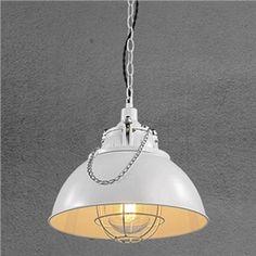 (EU Lager)Stilvolle Pendelleuchte Schale Design Weiß 1-Flammig