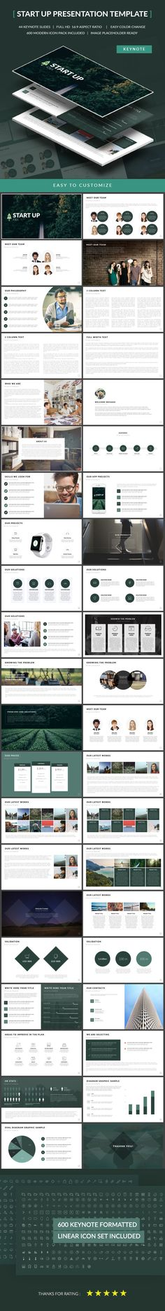 Start Up Presentation Template on Behance