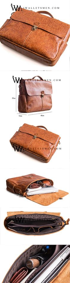 0eeb3ce24 Genuine Leather Mens Cool Messenger Bag Work Bag Satchel Bag Briefcase Bag  for men