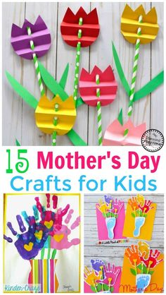 Idee Cadeau Fete Des Peres 2019 - 15 Adorable Mother's Day Crafts for Kids Easy Mother's Day Crafts, Mothers Day Crafts For Kids, Diy Gifts For Kids, Diy Mothers Day Gifts, Fathers Day Crafts, Crafts For Kids To Make, Craft Stick Crafts, Preschool Crafts, Craft Gifts