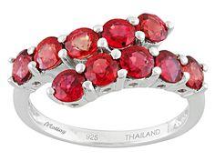 Exotic Jewelry Bazaar™ 2.50ctw 4mm Round Orange Sapphire Sterling S