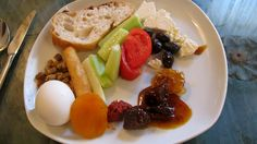 I'm in love with the idea of Turkish breakfast: hard boiled egg, bread, fig preserves, cheese, fresh cucumber and tomato, olives. For those of us who don't like traditional American breakfast...
