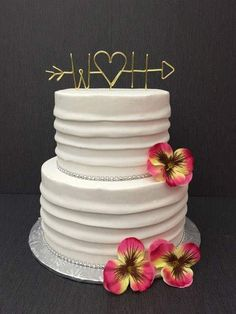 Wire Cake Topper - Arrow and Initials Cake Topper - Personalized Cake Topper - Wedding Cake Topper - Arrow Cake Topper Wire - Cake Topper by TouchOfHeartMemories on Etsy https://www.etsy.com/listing/517732927/wire-cake-topper-arrow-and-initials-cake