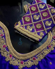 To get your outfit customized visit us at Chennai, Vadapalani or call/msg us at / for appointments, online order… Hand Work Blouse Design, Simple Blouse Designs, Stylish Blouse Design, Designer Blouse Patterns, Fancy Blouse Designs, Blouse Neck Designs, Saree Kuchu Designs, Wedding Saree Blouse Designs, Bollywood