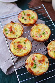 Mini Quiche - the BEST & easiest quiche you'll ever make, in mini size. So creamy, rich, delicious with this fool-proof mini quiche recipe | rasamalaysia.com
