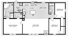 Manufactured Home Floor Plan: The Imperial Limited U2022 Model IMLT 45213B 3  Bedrooms, 2 Baths